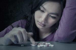 girl takes pill as gateway drug