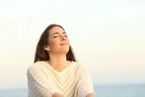 woman enjoying rehab in albany